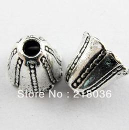 Wholesale End Caps Tibetan - HOT 140Pcs Tibetan Silver Tone Speaker End Bead Caps DIY Metal Jewelry 12mm A1198