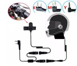 Wholesale Earpiece For Baofeng - Wholesale-OPPXUN Motorcycle Full Face Helmet Headset Earpiece for Two Way Radio Baofeng kenwood puxing