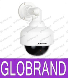 """Wholesale Decoy Security Cameras - 4"""" Realistic Looking Pseudo Fake Dummy Decoy Dome Security Camera Red Blinking LED FREE SHIPPING GLO621"""