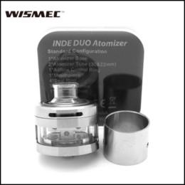 Wholesale Flow Mini - Original Wismec INDE DUO RDA Atomizer With Vortex Flow Design 22 30mm Tubes PEEK Insulator Vape Tank For eVic-VTC mini Eleaf iStick TC 100W