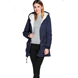 Wholesale Thick Winter Quilts - new winter padded coats women cotton wadded jacket medium-long Parka thick warm plus size hooded quilt snow outwear abrigos