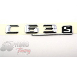 Wholesale Chrome Body Side - M*rcedes B*nz C63S Chrome Car Side Fender Rear Boot Trunk Badge Emblem Sticker for C Class C63S AMG