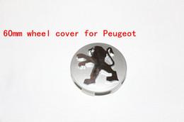 Wholesale Emblem Wheel Center - New 4Pcs Lot 60mm Peugeot 108 207 208 2008 301 307 3008 4008 508 5008 Wheel Hub Center Cap Wheel Cover Badge Emblem,car styling