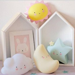 Wholesale Animal Lamps For Kids - Lovely Smile Led Night Light Cute Star Lamps For Baby Kids Bedroom Decor Novelty Gift For Children Gift Decor Ornaments
