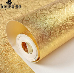 Wholesale Buy Rolls - Wholesale- Buy 5 GET 1 gold glitter wallpaper embossed ceiling murals wallpaper shining