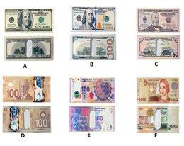 Wholesale Paper Presents - Various countries Paper money wallet fashion men dollar purse wallet card holders Children Kids Gift Presents