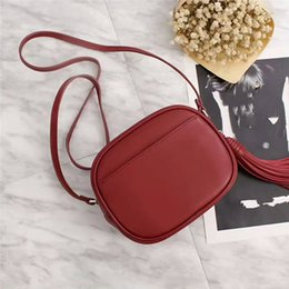 Wholesale Leather Woman Camera Bag - brand women Bag disco Bolsas new comeing free shipping Famous Women genuine leather camera bag Messenger tassel Blogger Bag Crossbody P
