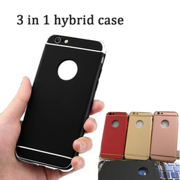 Wholesale Red Body Armor - Luxury Electroplate Ultra-Thin Frosted Armor Hard PC Case Slim 3 In 1 Full Body Shockproof Removable Back Cover for iphone 8 samsung s8 plus