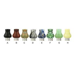 Lojas de cigarros on-line-Loja de jade 510 ponta de gotejamento E cigarros escultura arte ponta de gotejamento pedra Jade ponta de gotejamento com aço inoxidável boca larga atomizador bocais