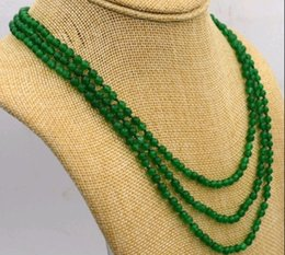 Wholesale Green Jade Beads 4mm - lovely amulet 4mm green jade bead necklace 17-19 inch