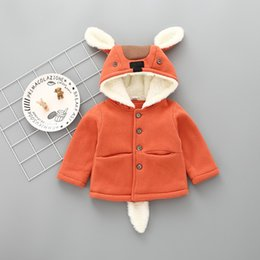 Wholesale Toddler 3t Coats - Winter Cute Baby Girl Fleece Coat thick long sleeve toddler Girls clothing kids Outer coat Fit 0-3T Baby