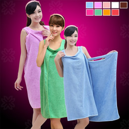 Wholesale Ladies Bath - Lady Baths Skirt Superfine Fiber Bath Towel Water Uptake For Multi Function Bathroom Bath Robe Multicolor Optional 10xc C