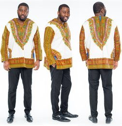 Wholesale Ethnic Clothes Men - 2016 New Hipster Men African Fashion Design Traditional Print Dashiki T Shirt Mexican Bazin Riche Bazin African Clothes Ethnic Clothing