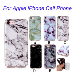Wholesale Iphone Skin Case Design - For iPhone7 7 Plus Luxury Ultra-thin Marble Design Case Skin Cover IMD Soft Full Protective Case Cover For iPhone 6 6s Plus BE0433