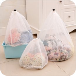 Wholesale Cloth Laundry Baskets - Drawstring Cloths Products Laundry Bags Baskets Mesh Bag Household Cleaning Tools Accessories Laundry Wash Care Protective Net