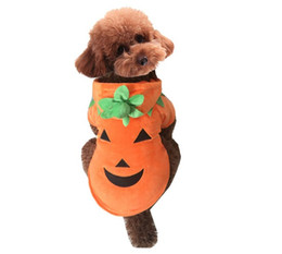 Wholesale Female Pumpkin - Special Offer Coats, Jackets & Outerwears Dog Costumes Medium New Halloween Christmas Cute Dog Cloth Pumpkin Dress Fashon free Shipping