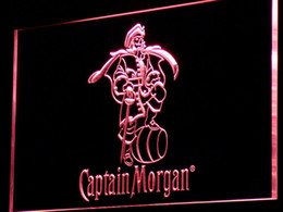 Wholesale rum signs - a138 Captain Morgan Spiced Rum Bar Neon Light Sign Free Shipping Dropshipping Wholesale 7 colors to choose