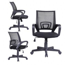 Wholesale Computer Chairs Ergonomic - Ergonomic Midback Executive Swivel Mesh Office Chair Computer Desk Task Black