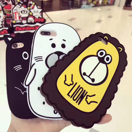 Wholesale Chinese Lions - 3D Seal Lion Soft Silicon Cases For iPhone 8 6 6s 7 Plus Cartoon Cover case Opp Bag