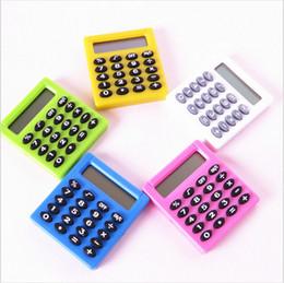Pocket Cartoon Mini Calculator Ha ndheld Pocket Type Coin Batteries Calculator llevan extras desde fabricantes