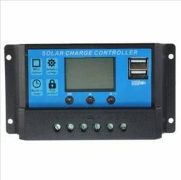 Wholesale Solar Charge Controller Usb - Intelligent Home 20A 12V 24V LCD Display Solar Charge Controller with USB Port