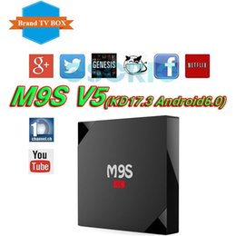Wholesale Play Install - M9S V5 android 6.0 tv boxes RK3229 KDplayer 17.3 installed 4K HDR H.265 HEVC 3D Movies play Private model 1GB 8GB WIFI Internet TV Box VS T8