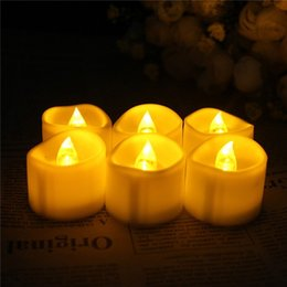 Wholesale flameless votive candle - Pack of 6 LED Votive Tea Lights Candles With Timer,Remote Control Battery Operated Flickering White Flameless Candles