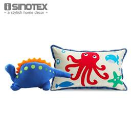 UK Dinoland Cushion Coxim Pillow+1 PCS Sea Creature Cushion Embroidered Cartoon Car Bed Seat Sofa Baby Kids Play Toy 2pcs set DHgate Mobile