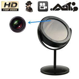 Wholesale Mirror Spy Hidden Cameras - 720 x 480 Swivel Mini Hidden Mirror Camera Spy Mini DVR with Motion Detection Covert Security Home camcorders CCTV DVR