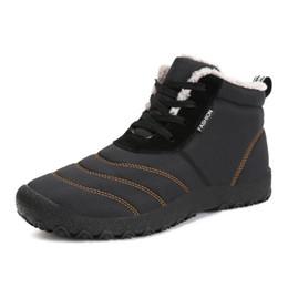 Canada 17 ans d'hiver haute nouvelle dentelle haute et chaussures rembourrées de coton bottes de coton de grande taille pour hommes en plein air chez les personnes âgées bottes de neige chaudes Offre