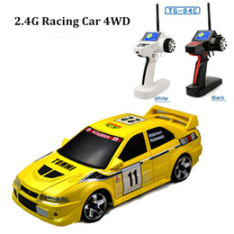 Wholesale Evo Electric - High speed remote control car 4wd rc truck 1 28 lancer evo model rc drift cars juguetes drop shipping