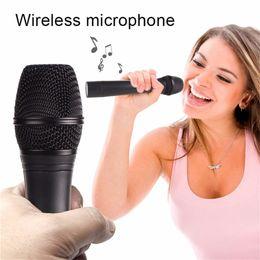 Wholesale Long Range Wireless Transmitter - J-105 Professional Wireless Microphone System Handheld Style Karaoke Microphone Long Range Dual Channel Mic Transmitter