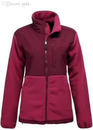 Wholesale Ladies Pink Wool Coats - Wholesale-Fashion NF Brand Women Denali Fleece Jacket Female White Pink Ribbon Winter Coats Ladies Outdoor Sports Polartec Fleece Jackets