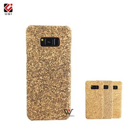 Wholesale Wood Cork Case - For Samsung Galaxy S8 S8Plus Plus U&I Real Cork Wood Case Blank Plain Color Back Cover 5.8, 6.0 Inch Protector Housing