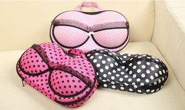 Wholesale Portable Bra Bag - Noverty underwear boxes Underwear bra storage box with a cover on it Receive a travel bag portable pressure defense 90 pcs