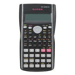 Wholesale Free Calculator - Handheld Multi-function 2 Line Display Scientific Calculator 82MS-A Portable Multifunctional Calculator for Mathematics Teaching Free Shippi