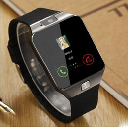 Wholesale Android Call - Smartwatch 2017 Latest DZ09 Bluetooth Smart Watch Support SIM Card For Apple Samsung IOS Android Cell phone 1.56 inch Free DHL smartwatches