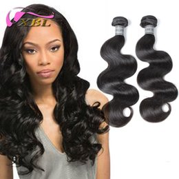 Wholesale 5a Virgin Weft - Body Wave Filipino Wavy Hair Extentions 2pcs XBL Hair 5A Virgin Filipino Hair 10 inch to 24 inch Hot Hair Bundle