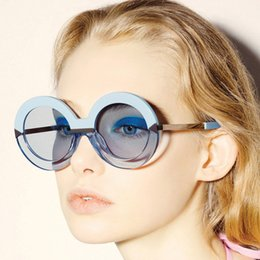 2019 gafas de sol de forma redonda al por mayor Al por mayor-Nueva llegada de las mujeres grandes gafas de sol Pure Mori Girl Style Arrow Shapes Espejo de la vendimia redonda 60S abrigo femenino Leopard gafas de sol gafas de sol de forma redonda al por mayor baratos