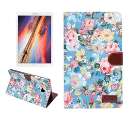 Wholesale Shockproof Flip Phone - Rose Flowers PU leather Wallet credit card Phone Flip Case with Stand Holder for Samsung galaxy Tab E 8.0 T377 case