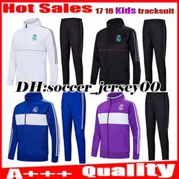 Wholesale Real Children - Kids 2017 2018 ASENSIO Real madrid trainingsuit kits tracksuit child soccer Jersey Longsleeve RONALDO BALE RAMOS ISCO MODRIC football jacket
