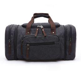 Wholesale Animal Print Duffel Bag - 2016 Men's Vintage Travel Bag Large Capacity Canvas Tote Portable Luggage Daily Handbag Bolsa Free Shipping Wholesale P422