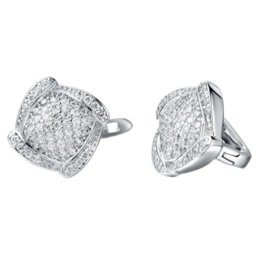 Wholesale Acessories Silver - Bijouterie Clip-On Earrings Silver Party Indian Big Acessories for Women CZ Zircon Micro Pave Jewelry ULOVE R149