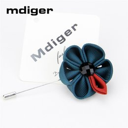 Wholesale Pin Sun - Mdiger Fashion Hot Sale Lapel Flower Sun Flower Handmade Boutonniere Stick Brooch Pin Mens Accessories Lapel Floral Pins Brooch