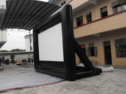 Wholesale Outdoor Advertising Screens - strong style color outdoor cinema movie inflatable screen promotion inflatables for advertising with free air blower