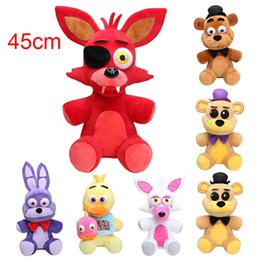 Bambola fredda online-45cm Big Size Five Nights At Freddy '; S Fnaf Peluche Foxy Freddy Fazbear Bonnie Mangle Foxy Chica Bambola giocattolo per bambini