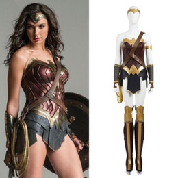 Wholesale Woman Batman Costume - 2016 Batman v Superman Wonder Woman Diana Prince Cosplay Costume Custom Adult
