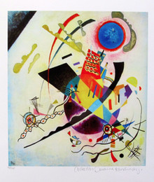 Wholesale Kandinsky Abstract Paintings - High Quality genuine Pure Hand Painted Abstract Art oil Painting On Thick Canvas in Multi size,Wassily Kandinsky BLUE CIRCLE Estate