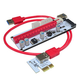 Wholesale Pci Express Cable Extension - VER008S 3in1 Molex Power 60CM PCI-E Riser Card 4pin 6pin Sata PCI Express 1x to 16x 1x Extension Cable for Bitcoin Miner