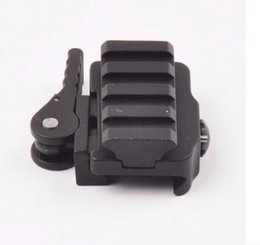 Wholesale Quick Release Weaver Rail - NEW High Quality QD Compact Quick Detach Release Scope Mount Adapter 20mm Rail Base Picatinny Weaver